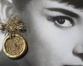 La Dolce Vita -'Coil' Earrings-Silver or Gold Metallic -by Pauletta Brooks