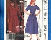 1980's McCall's 2682 Laura Ashley Prairie Chic Easy Fitting Dress Pattern Size 12..14..16 UNCUT