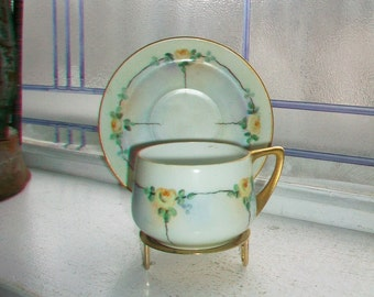 Vintage Rosenthal Donatello Teacup and Saucer Bavaria Hand Painted
