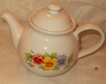 Corelle Coordinates Summer Blush Teapot & Creamer Corelle Stoneware Teapot Flowers Tea Pot Cream Pitcher