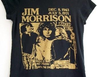 Vintage 1990s Jim Morrison The Doors Lizzard Lizard King Hippie Psychedelic T Shirt Sz XS