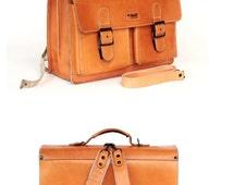 Messenger bag leather backpack leather rucksack leather school bag McNeil