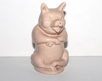 Rare early 20th century butchers pig advertising money box / money bank. Harris Sausages