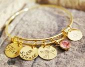 Bride Bracelet - Wedding Bracelet - Bride Charm Bracelet - Wedding Charm Bracelet - Wedding Date Bracelet - Bridal Shower Gift - Bride Gift