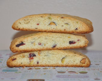 Biscotti  Cookies Pistachio  Nuts Cranberry  Holiday Cookie Box