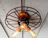 Ceiling Fixture - Upcycled Antique Film Reels