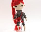 Doll, plushie doll, art doll, stuffed doll, ragdoll