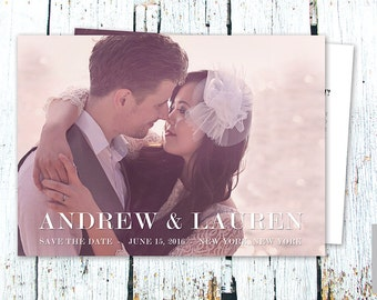 Save the Date Card Template for Photographers, Instant Download, PSD Files, 5x7 Photo Card Template, Photography, Modern, Wedding