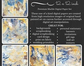 Premium Digital Paper Pack Marble Earth and Wind Yellow Blue White Brown Printable Digital Paper Download Scrapbooking Paper Abstract Design