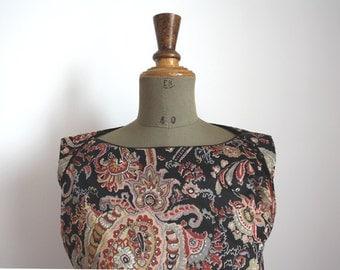 70's PAISLEY print day dress // Vintage dress //