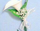 White Calla Lily Flower Pen // Wedding Guestbook Pen