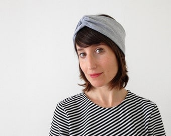 NEW - The turban headband - handmade in solid colors of soft cotton jersey fabric