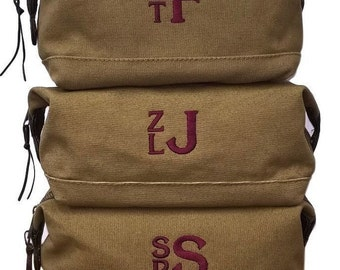 Set of 9 Toilety Bags Shaving Kits Personalized Mens Travel Kits Groomsman Gifts