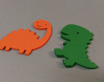 Dinosaur Cut Outs, Dinosaur Die Cuts, Dinosaur Embellishments for Scrapbooking, Cupcake Toppers, Birthday Parties, Invitations
