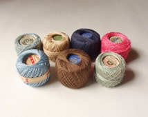 Assorted Cotton Crochet Thread from the 40s, RMC, Clarks, J & P, Coats and Clarks