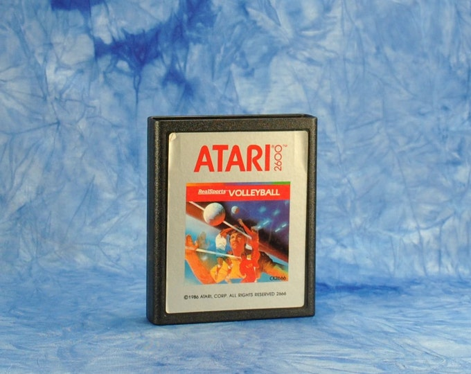 Vintage Atari 2600 Volleyball Game, Atari, 1978, Video Game, Sand, Beach, Sports, Ace, Assist, Spike, Serve, Set, Court, Fun And Sun, Ocean