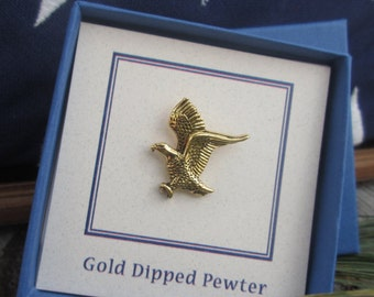 Gold Bald Eagle Lapel Pin