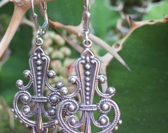 Bali Silver Chandelier Earrings