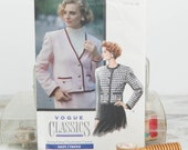 Size 12, 14, 16,  Loose fitting below waist classic jacket, Vogue (7623) 1980s Vintage Sewing Pattern