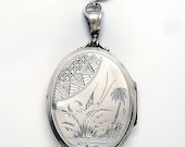 Beautiful Large Sterling Silver Victorian Aesthetic Locket