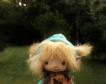 sweet  ooak posable four inches   tiny fairy fairie