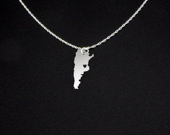 Argentina Necklace - Argentina Jewelry - Argentina Gift
