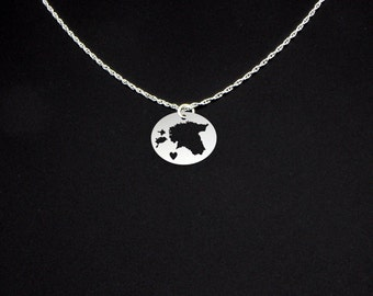 Estonia Necklace - Estonia Jewelry - Estonia Gift