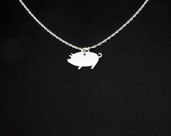 Pig Necklace - Pig Jewelry - Pig Gift - Animal Lover Gift