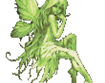 Emerald Fairy 14 Count Cross Stitch Chart / Kit
