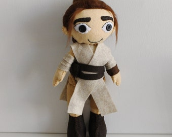 Rey The Force Awakens Plush Star Wars Felt Doll