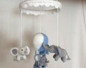 CUSTOM ORDER for CONNIE - Handmade Crochet Elephant Hot Air Balloon Baby Mobile