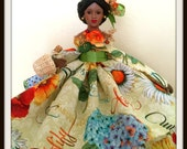 Black Doll, Inspirational Doll, Mustard Seed Faith, African American, OOAK Porcelain Doll, Collectible Doll and Home Decor Accent