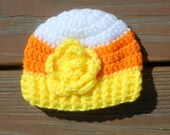 Candy Corn Hat, Halloween Costume, Baby Girl Hat, Toddler Costume, Newborn Halloween, Candy Corn Costume, October Baby, Halloween Beanie