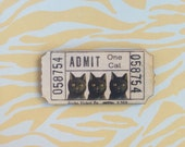 Cat Brooch Carnival Ticket Kitty Oddity Circus