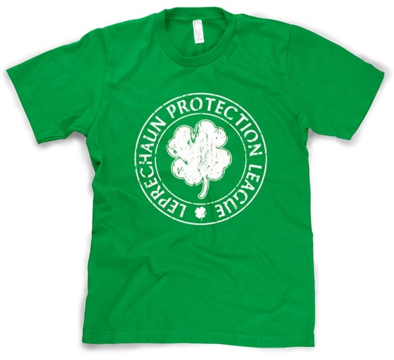 Mens Leprechaun Protection League T-Shirt irish pride, ireland, getting drink, drinking shirt, surprise im drunk, alcohol gifts S-4XL