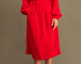 Vintage Red Robe Manteau