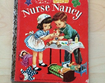 Nurse Nancy Vintage Children's Picture Book Little Golden Book