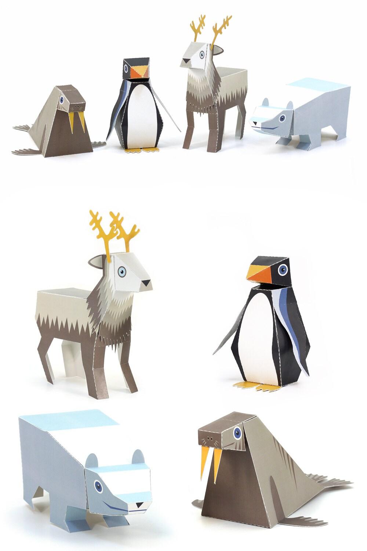 Ice Animals Paper Toys...