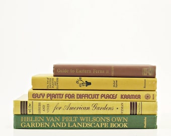 GARDENING Book Collection, Decorative Books, Plant Gift, House Plants, Old Book Set, Green Books, Vintage Books, Book Decor, Landscaping