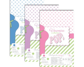 Belly Bump About to POP Baby Shower Popcorn Wrappers-Thank you favor wrappers-DIGITAL DOWNLOAD
