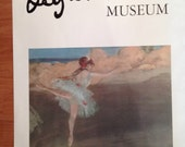 "Vintage Norton Simon Museum poster of Degas ballet dancer 27""x22"""
