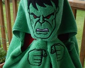 Green Monster Hooded Towel - Free Personalization