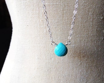Fertility Necklace, Sleeping Beauty Turquoise Fertility Necklace, Pregnancy Protection Jewelry, Layering Fertility Necklace, Pregnancy Gift