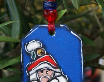 Set of three santa claus ornaments for the christmas tree