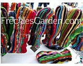 Crocheted Mittens Youth thru Adult by FreCkLes GarDeN  - Fleece Lined, One of a Kind