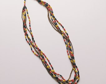 Long Uganda Colors Paper Bead Necklace