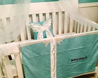 Gift Box Blanket/Baby Blanket/ Baby & Co/Turquoise/Aqua