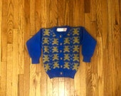 2T Blue Teddy Bear Vintage Cardigan with Teddy Bear Buttons Toddler