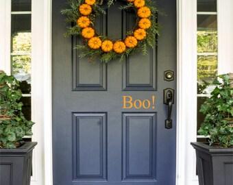 Boo! Door Decal, Halloween Door Decal, Trick-or-Treat, Halloween Decor, Halloween Door Decal