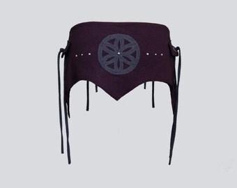 TRILLIUM BELT [ festival clothing . utility belt . festival belt . pocket belt . seed of life . sacred geometry . flower of life ]